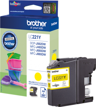 Brother encre j 260p LC221Y